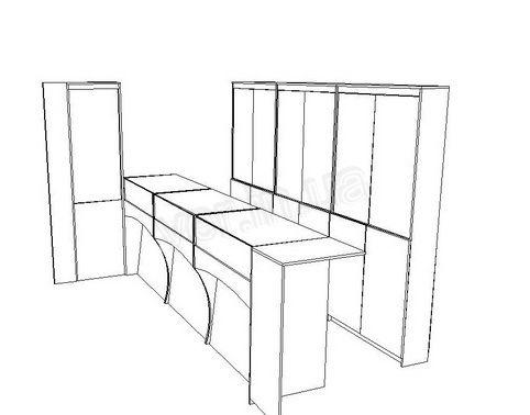 .Эскизы прилавков для ювелирных изделий.2